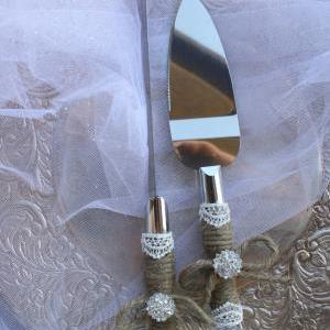 Wedding Cake Server And Kni..
